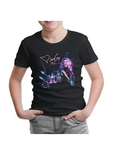 Lord Tshirt Lady Gaga - Motorcycle Siyah Çocuk Tshirt Siyah